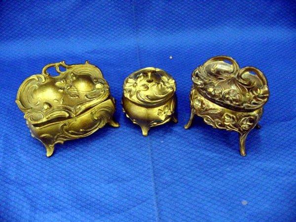 8: Spelter Bronze Jewellery Box