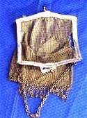244: Victorian Era Ladies chain mesh handbag