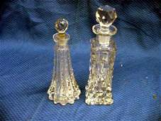 351A: Pair of Late Victorian Cut Crystal Scen