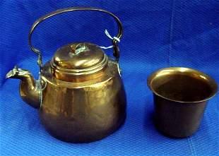 Copper Tea Pot and Planter
