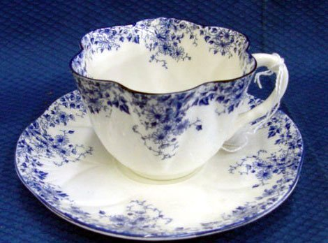 21: Shelley Dainty Blue Cup & Saucer