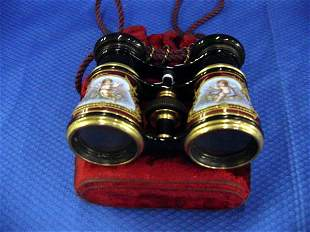 Pair of French Enamelled Opera Glasses