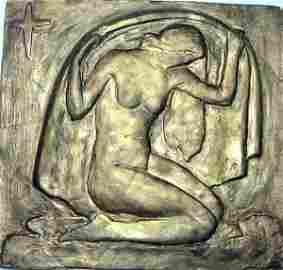 "218: F. Wyle, Plaster patina, ""Morning Star"", 1940, sig"