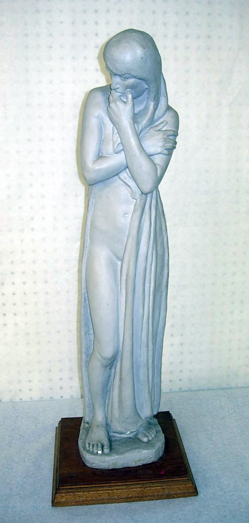 "225A: F. Wyle, Plaster with gray patina, ""Doubt"", 1930,"