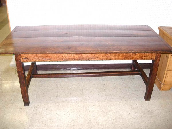"379: 17th Century oak refectory table, 30""h x 36 1/2""w"