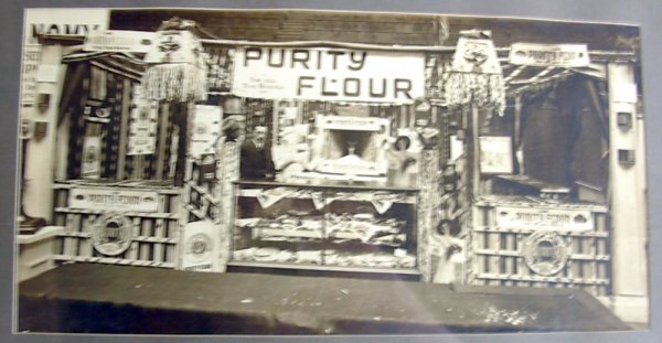 1011: Early black and white photo of the Purity Flour S