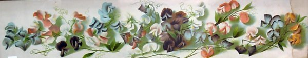 """1013: Print entitled """"A Shower of Sweet Peas"""" *noting w"""