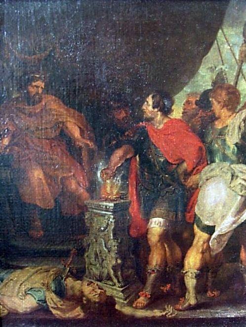 1014A: Rubens : Mucius Scaevola before Porsenna Oilette