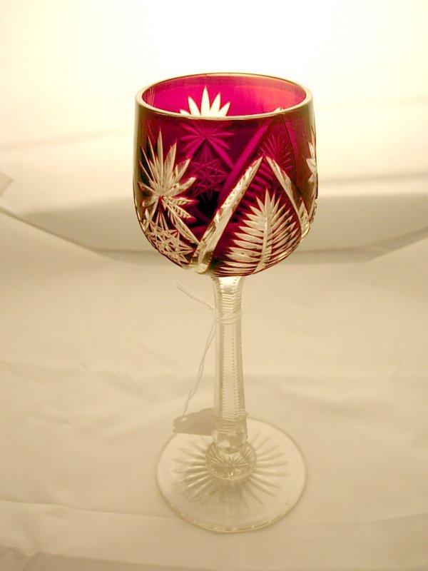 2007: Bohemian glass goblet