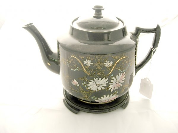 2010: Windsor Rd 246622 Tea Pot, Handpainted with stand