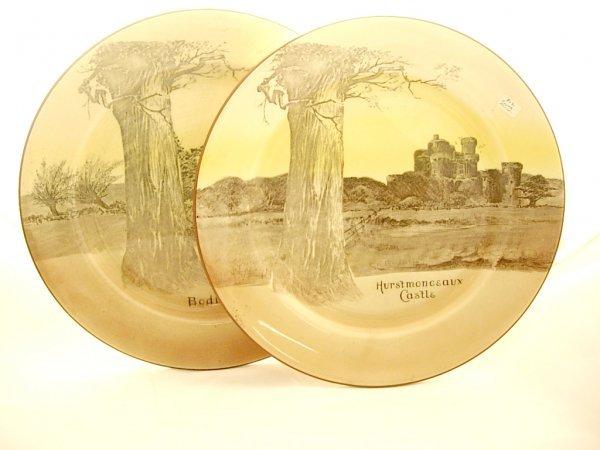 "2011: 2 Royal Doulton Plates ""Bodiam Castle"" ""Hurst Mou"