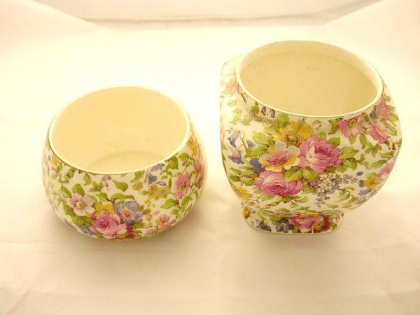 "2012: 2 Royal Winton Sugar ""Summertime"" bowls *missing"