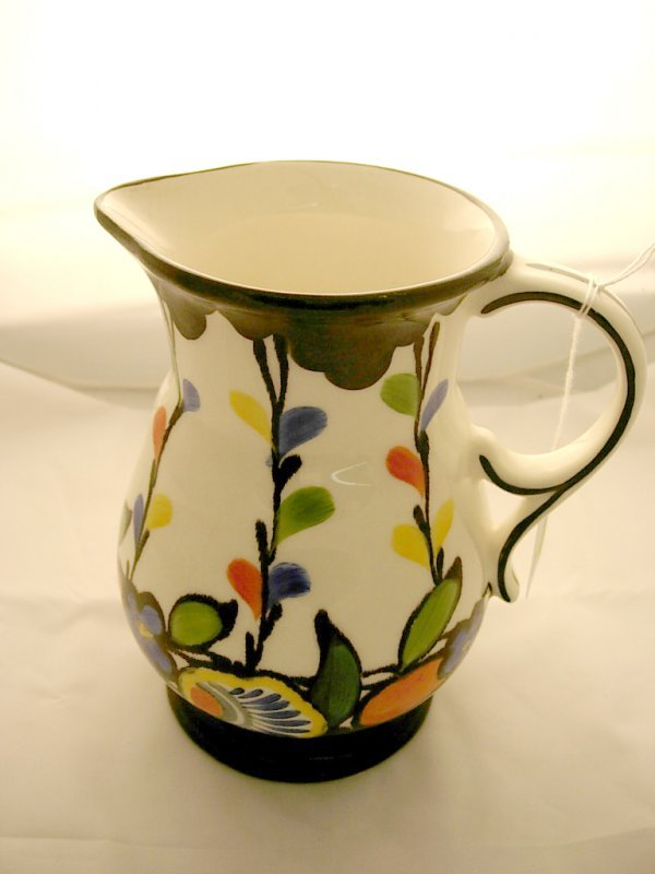 2018: Handpainted made in Czech. Jug *chip in base