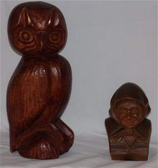 Carved Wooden Figs