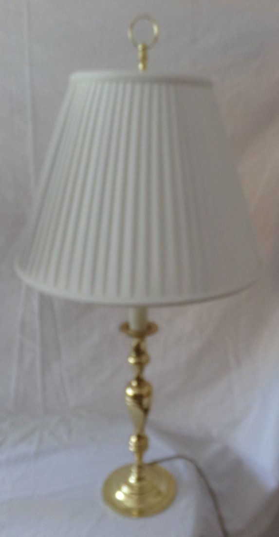 Brass Candlestick Form Table Lamp