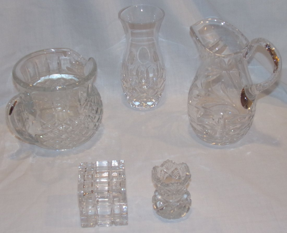 Grouping Clear Glass Pieces