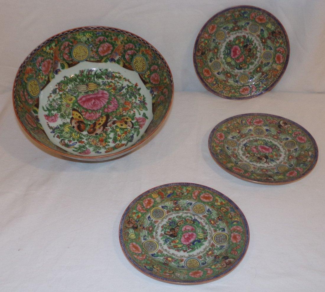 Modern Rose Medallion Pieces