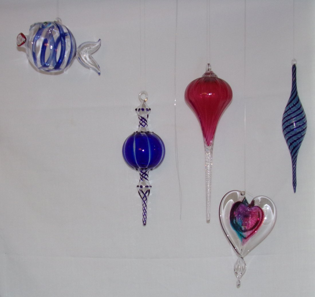 Modern Art Glass Hanging Ornaments