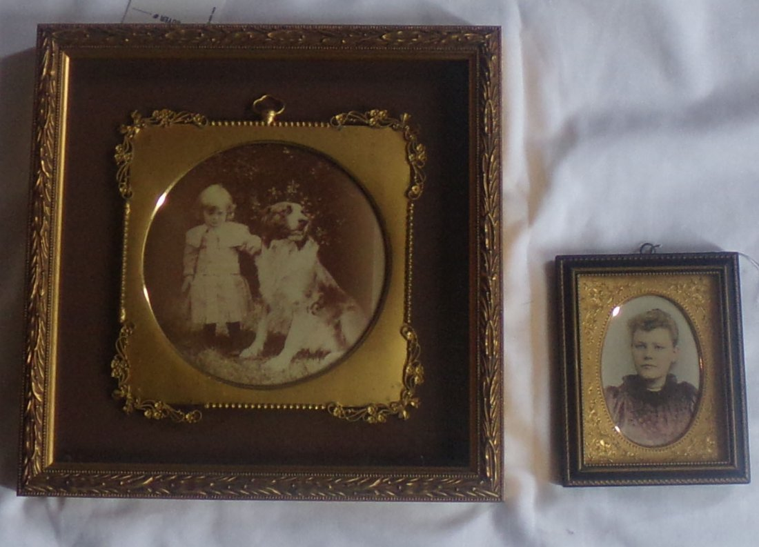 Framed Photograph-Child/Photograph-Woman