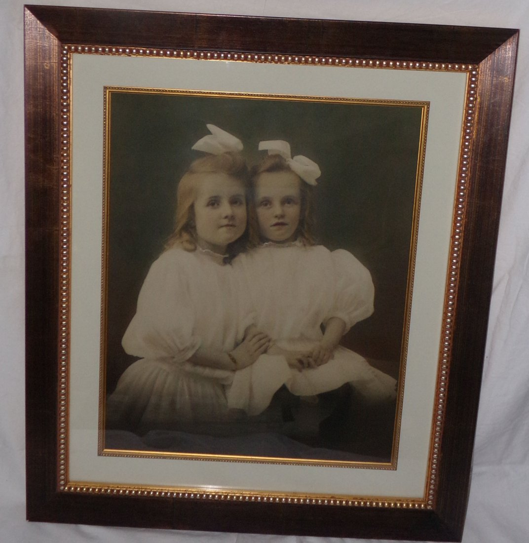 Framed Photograph - 2 Young Girls