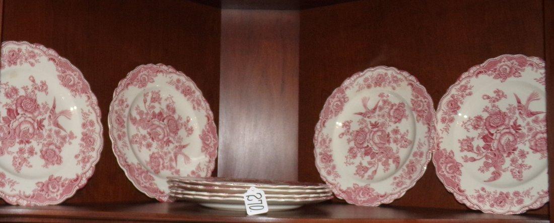 Crown Ducal R&W Dinner Plates