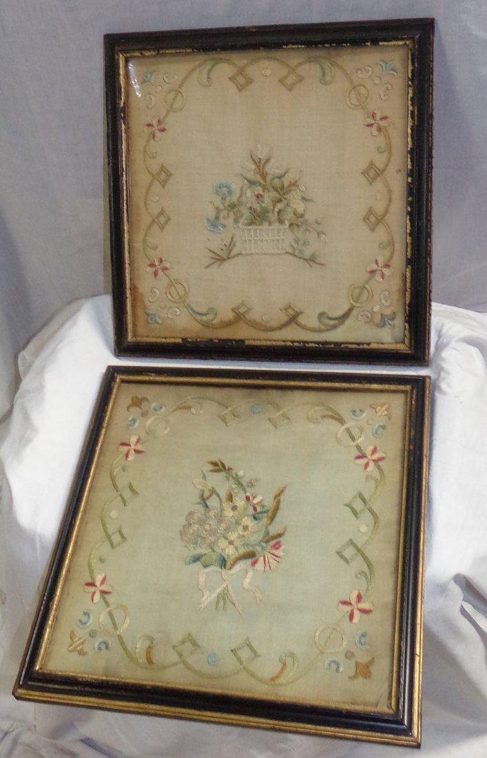 Framed Antique Needlework