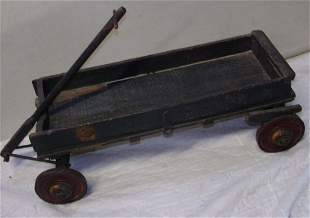 Primitive Wooden Toy Wagon