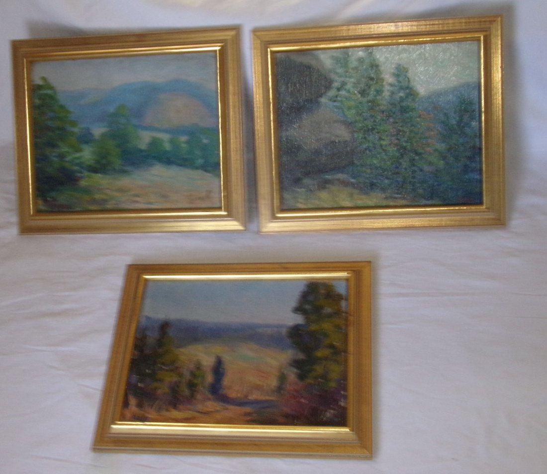 3 Impressionist Landscape Paintings