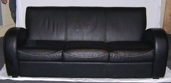 4005: Leather Sofa & Chair w/ Indian Motorcycle Logo