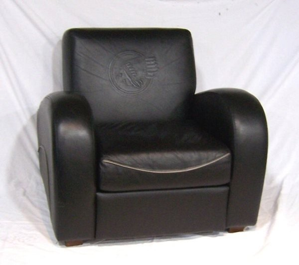 4005: Leather Sofa & Chair w/ Indian Motorcycle Logo - 2