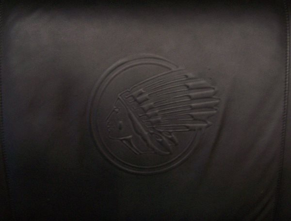 4005: Leather Sofa & Chair w/ Indian Motorcycle Logo - 3