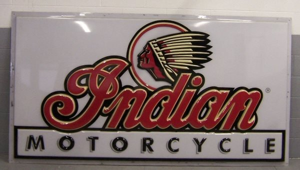 4007: Indian Motorcycle Sign - Large
