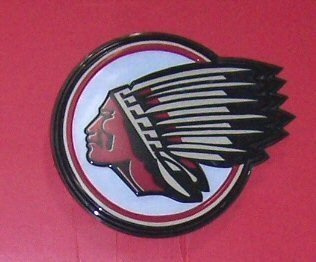 4009: Round Indian Motorcycle Electrical Sign