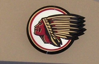 4010: Round Indian Motorcycle Electrical Sign