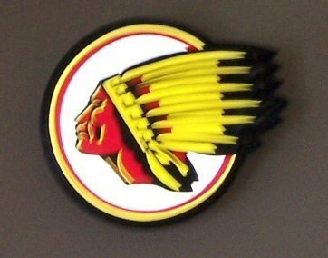 4011: Round Indian Motorcycle Electrical Sign