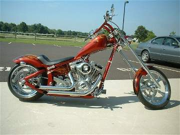 4025: 2006 Swift Bar Chopper - Red - True Flames