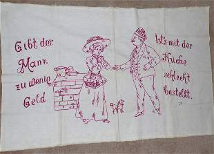 Unfinished GermanPA Dutch Pillow Cover