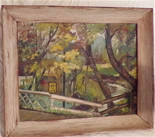 20th C Landscape Oil Painting on Board