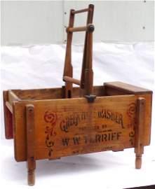Vintage Wooden Manual Washing Machine