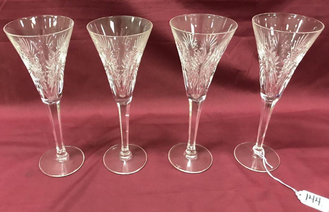 Set of 4 Crystal Goblets