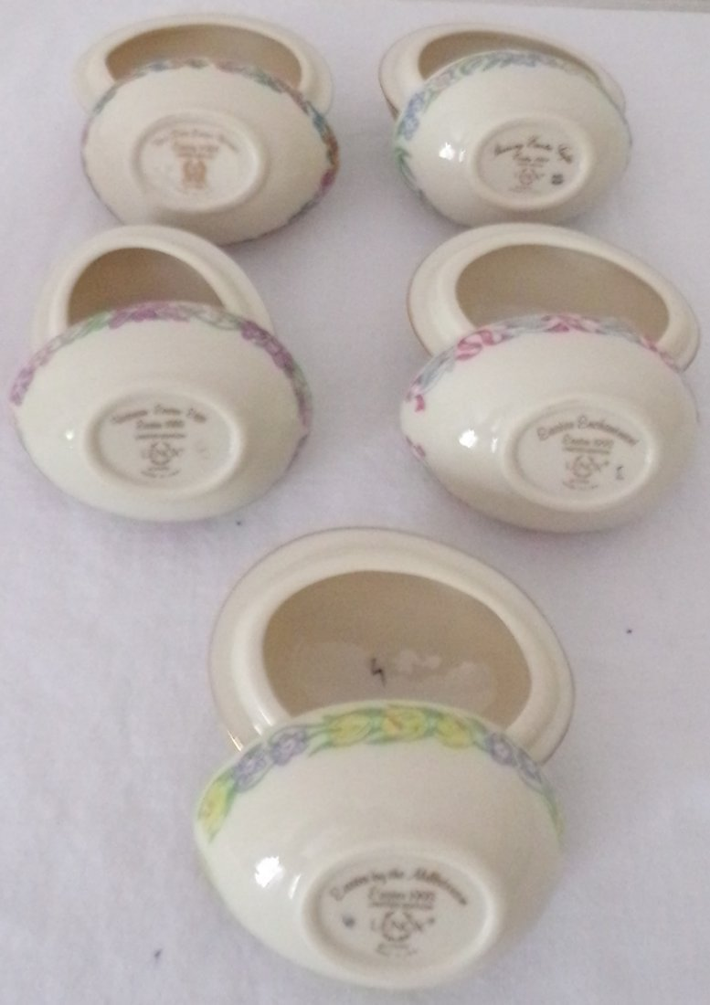 Grouping of 5 Lenox Egg Form Boxes - 2