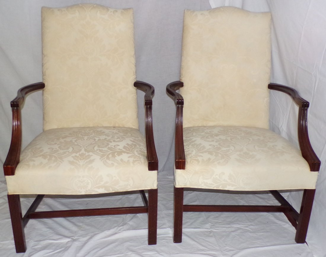 Pair of Stylized Martha Washington Armchairs