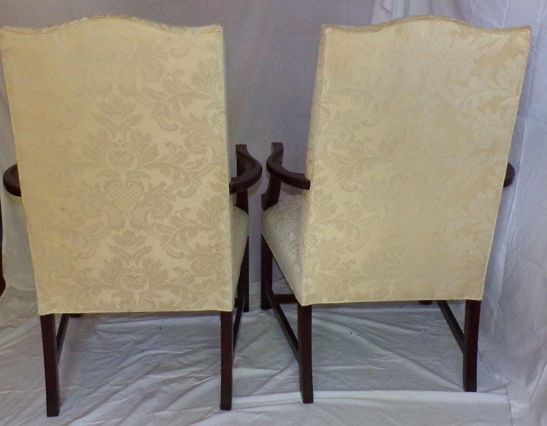 Pair of Stylized Martha Washington Armchairs - 2