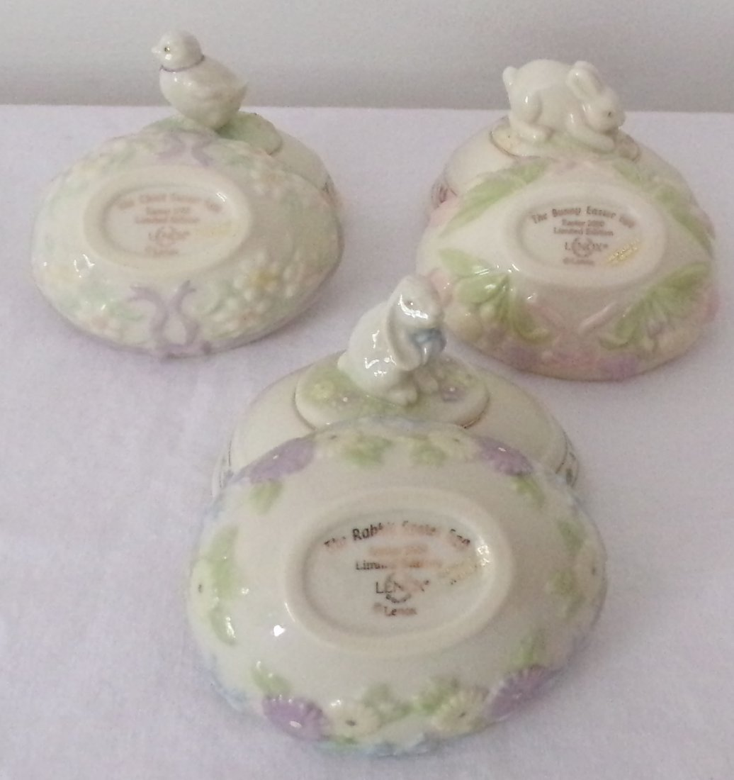 Grouping of 3 Lenox Egg Form Boxes - 2