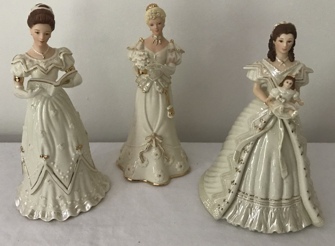 Grouping of 3 Lenox Lady Figurines