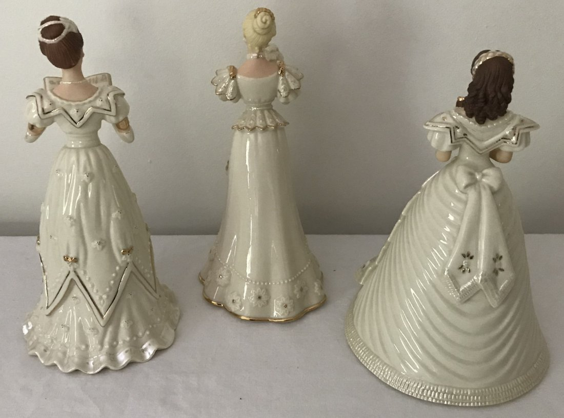Grouping of 3 Lenox Lady Figurines - 2