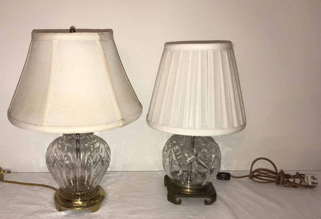 Pair of Crystal Table Lamps - Waterford