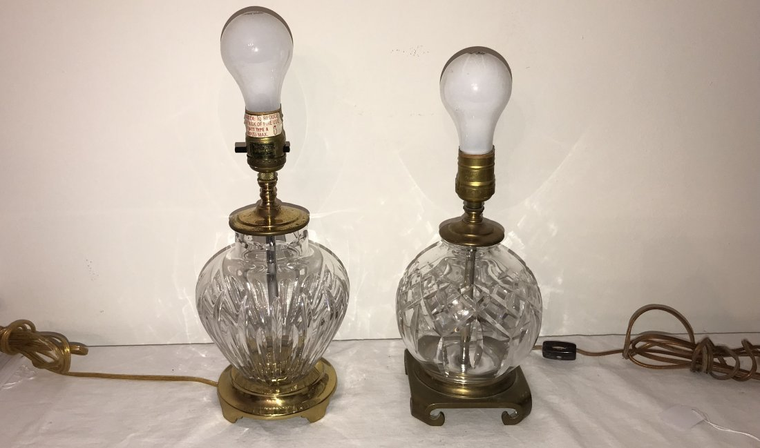 Pair of Crystal Table Lamps - Waterford - 2
