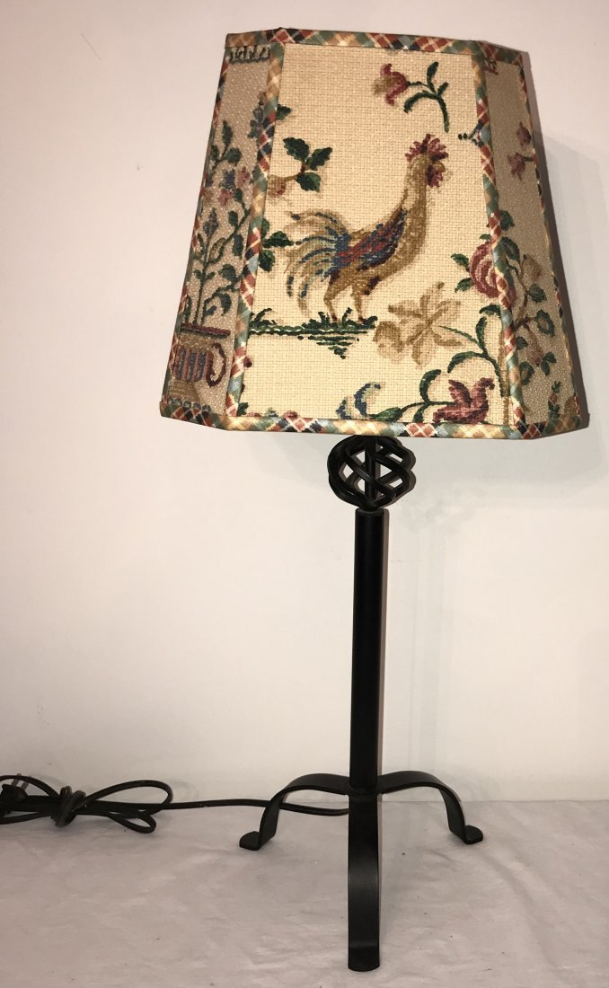 Reproduction Wrought Steel Table Lamp