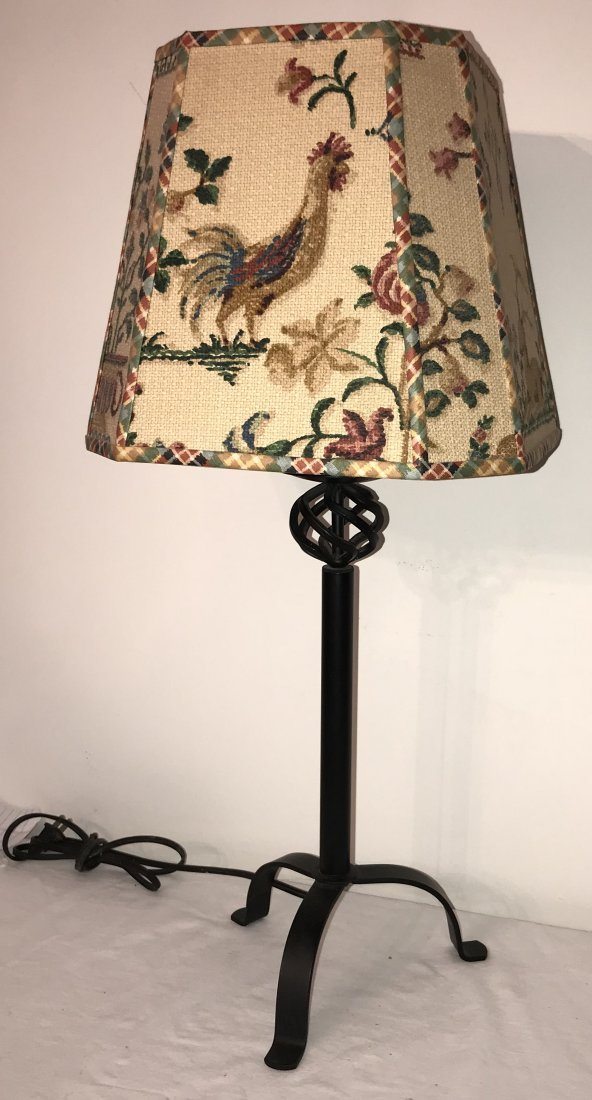 Reproduction Wrought Steel Table Lamp - 2